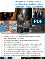 8 Reasons Why the April 6th Missile Strike Constitutes Anti-New World Order Collusion