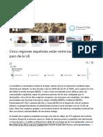 Cinco Regiones Españolas Están Entre Las Diez Con Más Paro de l