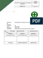 ES-S-PR-004 - Procedimiento de Trabajo Con Materiales Peligrosos