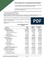 Presupuesto General y Proyectos de ENACAL