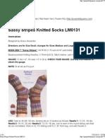 Sassy Stripes Knitted Socks..