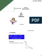 pH, pOH e Tampões