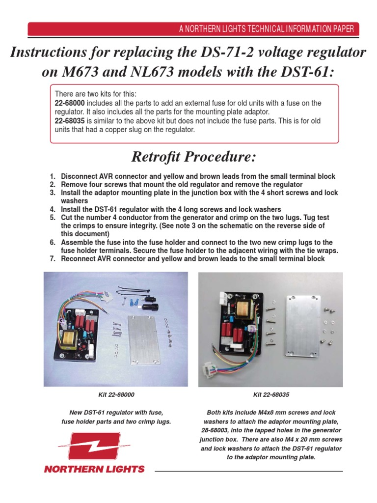 L972 Instructions Replacement Ds 71 2 Voltage Regulatorpdf Fuse Box Ads Electrical Connector