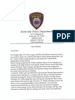 Kirbyville Police Press Release