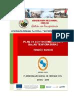 Plan Contingenciar Bajas T°Cusco 2014