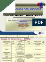 Sesión 12 PMI Gestión de las Adquisiones
