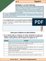 6to Grado - Español - La paráfrasis y la cita textual.pdf