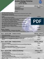 NASA 147737main Exploration Workshop Agenda