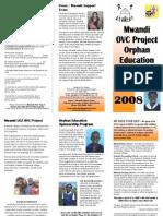 Mwandi Orphan Children Project Brochure