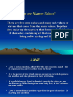 What Are Human Values -PPT