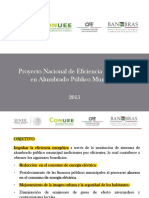 Proyecto Nacional de Eficiencia Energética en Alumbrado Público Municipal
