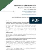 Informe Transformaciones Quimicas Sencillas.