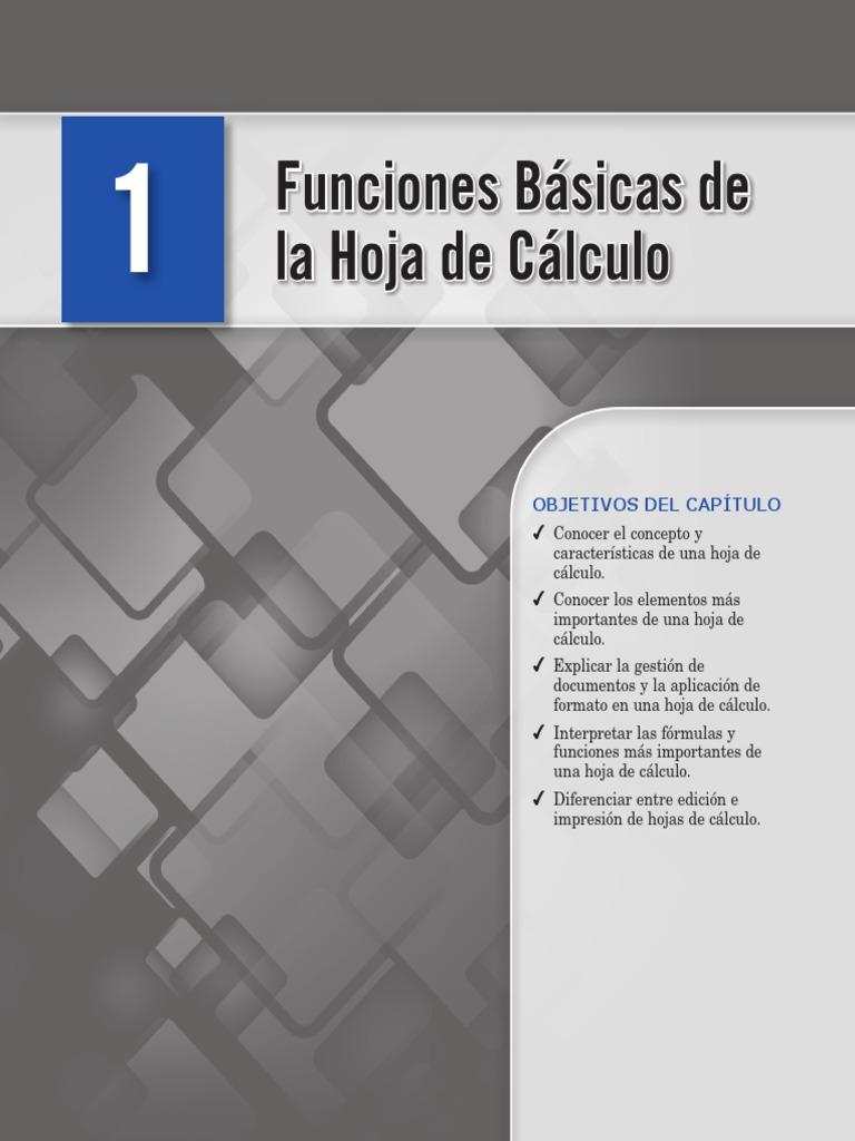 Funciones Basicas de Excel   Hoja de cálculo   Fórmula