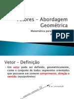GA 1 Vetores Aspectos Geométricos
