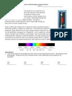 practice emission spectra