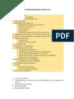 Analisis y Balance Nutricional Finca Lechera