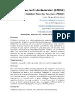 Informe Reacciones de Óxido Reducción Redox