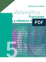 Fracciones y Numeros Decimales 5 Aumnos