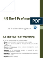 4.5 the Four Ps of Marketing