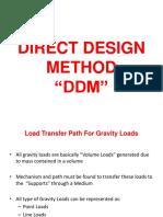 "Floor slab design ""DDM"""