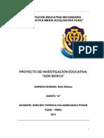 Institución Educativa Secundaria Emblemática María Auxiliadora Puno