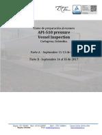 Sept2017 - Curso de Preparacion Al Examen API 510 Cartagena