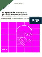 La Hipertension Arterial Como Problema de Salud Comunitario