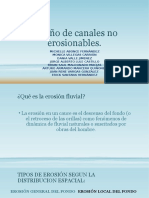 Diseño de Canales No Erosionables