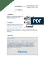 marco teórico Multiplicación