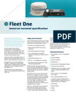Inmarsat Fleet One Technical Specification Sheet July 2014