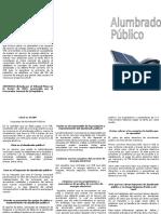 Triptico Sobre Impuesto de Alumbrado Público