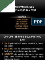 Tehnik Penyusunan & Pelaksanaan Tes