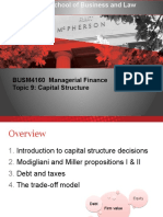 Managerial Finance Topic 9 2017