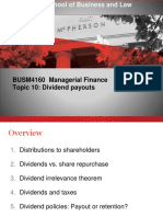 Managerial Finance Topic 10 2017