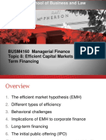 Managerial Finance Topic 8 2017