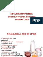 Ppt 3 Lipid Metabolism