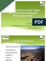 13 - Construccion Plan de Cierre Tome Kdm s.a.