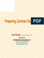 Preparing a Contract Document under Laws of India