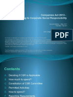 Companies Act 2013 - Key Aspects Relating to Corporate Social Responsibility