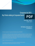 Companies Act 2013 - Key Aspects Related to Corporate Social responsibility