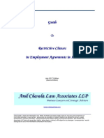 Restrictive Clauses in Employment Agreements