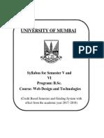 4.212 T.Y.B.sc. Computer Science (Web Design and Technologogies) Sem v & VI
