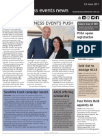 Business Events News for Thu 01 Jun 2017 - Silversea business events push, Sunshine Coast campaign launch, AACB scholarship, Meetings on the go in NZ, and more