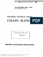 Bs 2902-Higher Tensile Steel Chain Slings