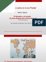 América Latina en La Era Trump El Salvador Enero 2017