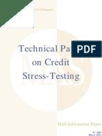 Stress Testing Credit Risk