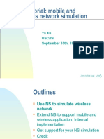 NS Tutorial for Mobile & WIreless Simulation