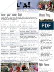 June 2010 Sholla Newsletter Missionary Project - Monterrey, Mexico
