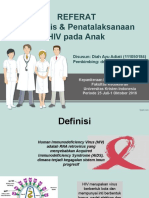 Diagnosis Dan Penatalaksanaan HIV Pada Anak