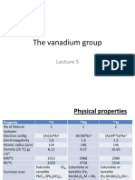 Lecture 5-The Vanadium Group